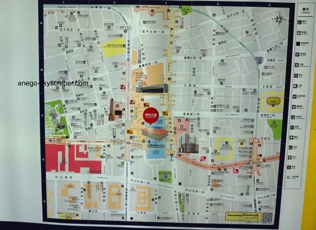台北駅の地下街の位置関係