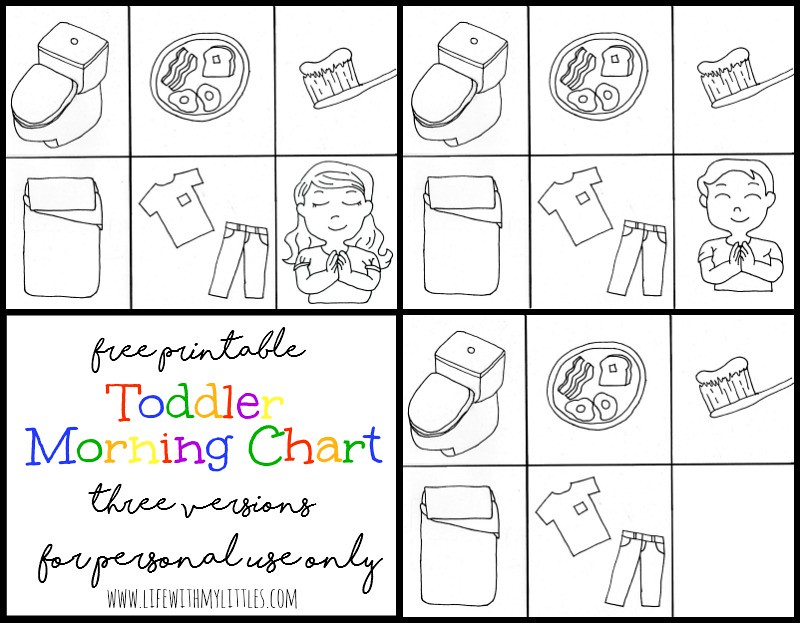free toddler morning chart printable life with my littles