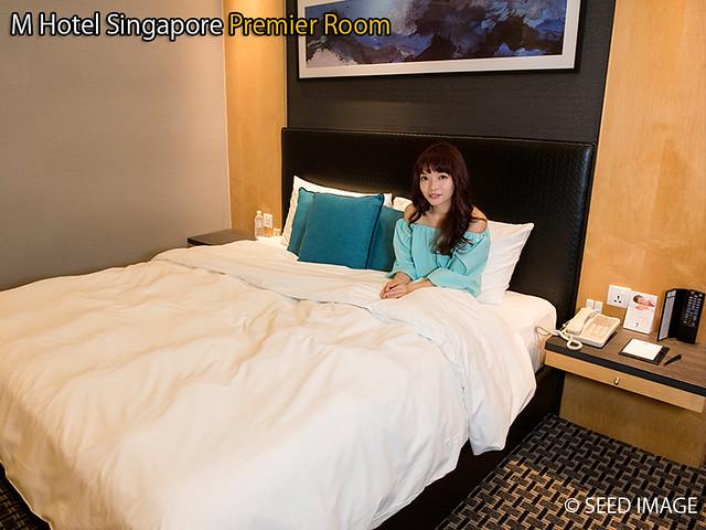 M Hotel Singapore Premier Room Bed