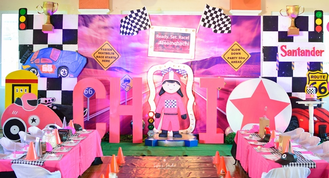 girly race car stage
