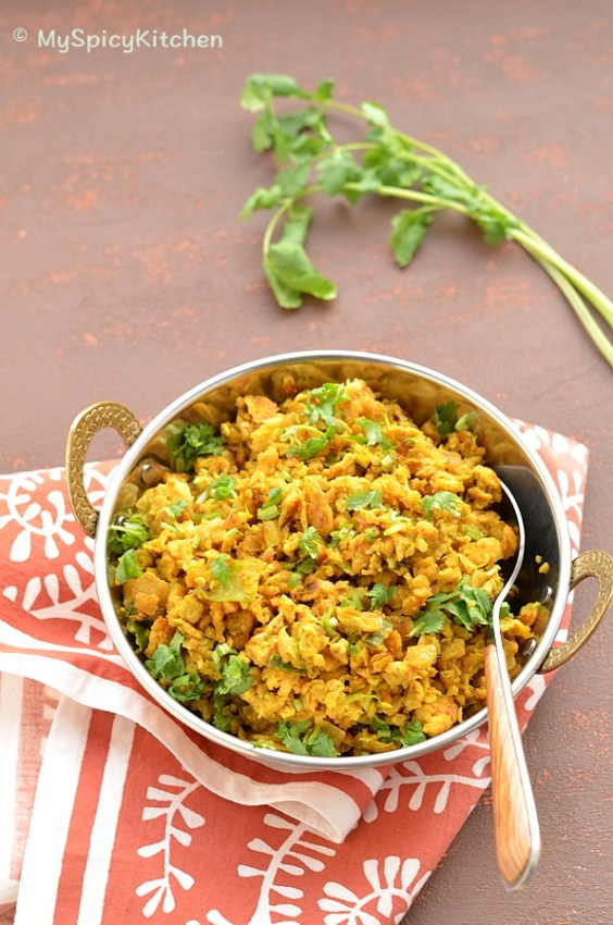 Cabbage Egg Bhurji, Egg Bhurji, Cabbage Bhurji, Indian Food, Bhurji, Scrambled Egg, Indian Scrambled Egg, Blogging Marathon,