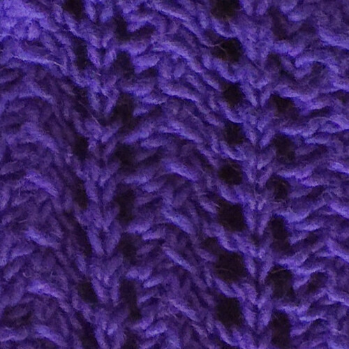 Purple Scarf: Close