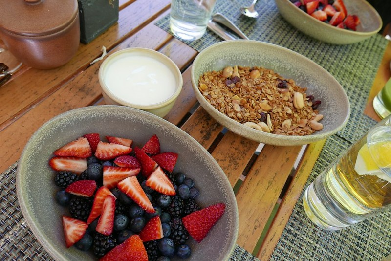 Mixed berries, yogurt, granola