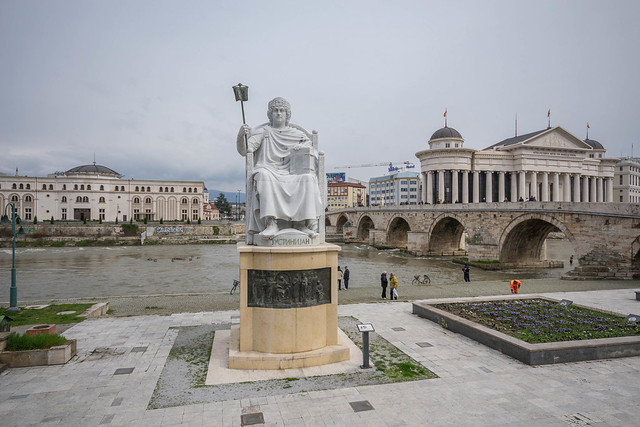 Justinian I monument, Skopje
