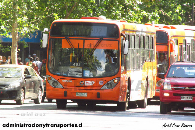 Transantiago (405) - Express - Marcopolo Gran Viale / Scania (CJRS81)