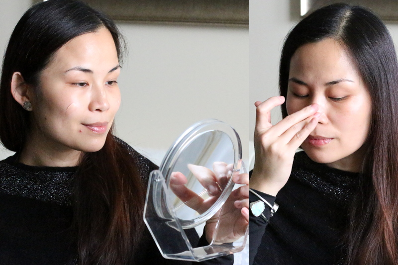 applying face primer