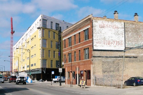 "2211 N Milwaukee: ""The L"" building really grabs that corner with Talman"