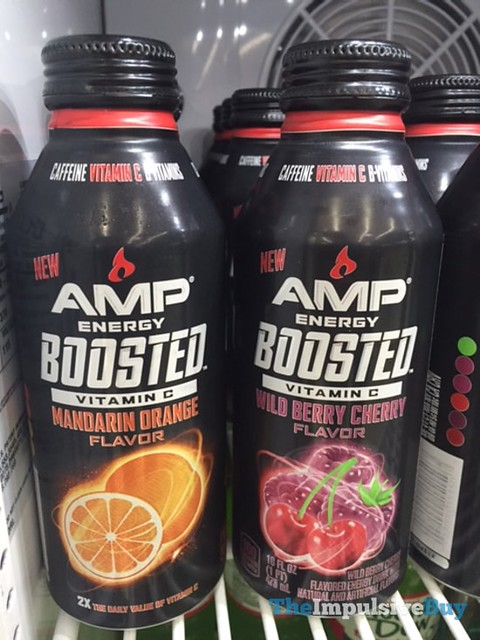 Amp Energy Boosted Mandarin Orange and Boosted Wild Berry Cherry