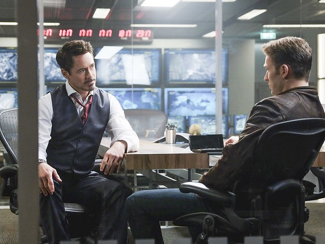 Civil War Movie Tony Stark and Steve Rogers