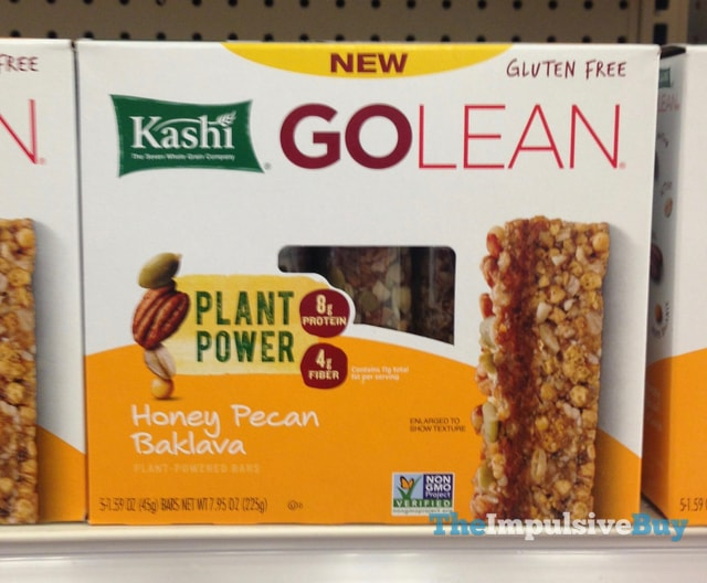 Kashi Go Lean Honey Pecan Baklava Plant Powered Bars