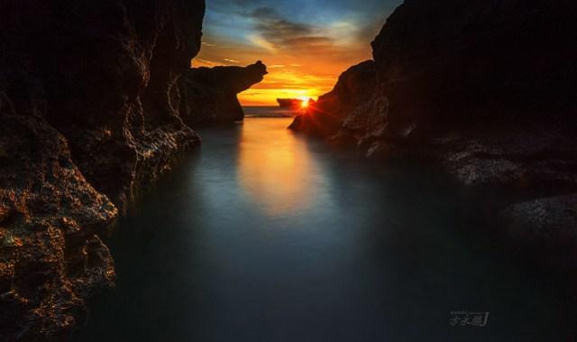 Sun Down over Melasti Beach