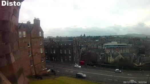 A la entrada del Castillo de Edimburgo