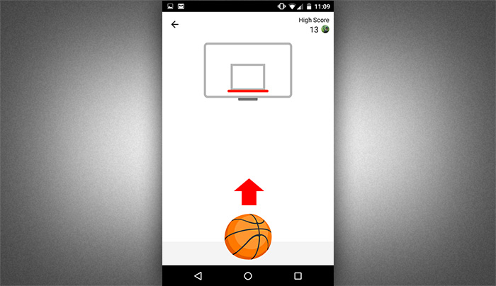 Play basketball in Facebook messenger 3