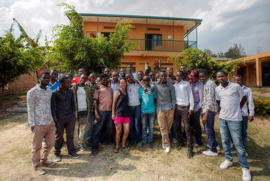 Heather and her boys. Kigali, Rwanda