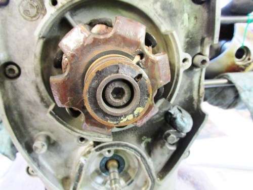 Alternator Allen Bolt Screws Into Crankshaft Nose