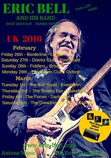 Eric Bell 2016 tour poster
