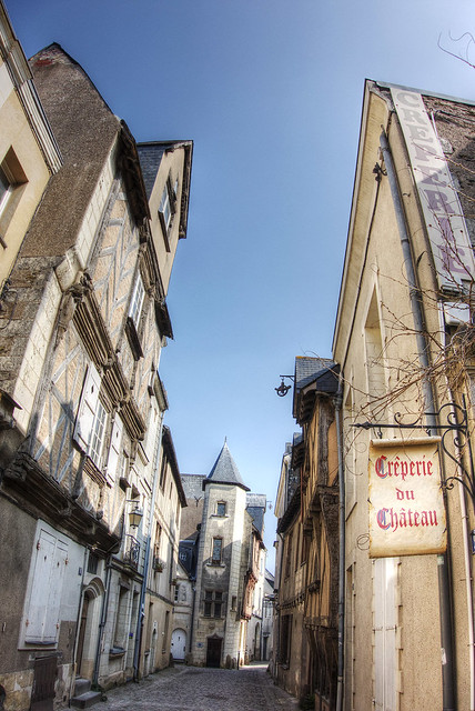 Rue Saint-Aignan, Angers, France.