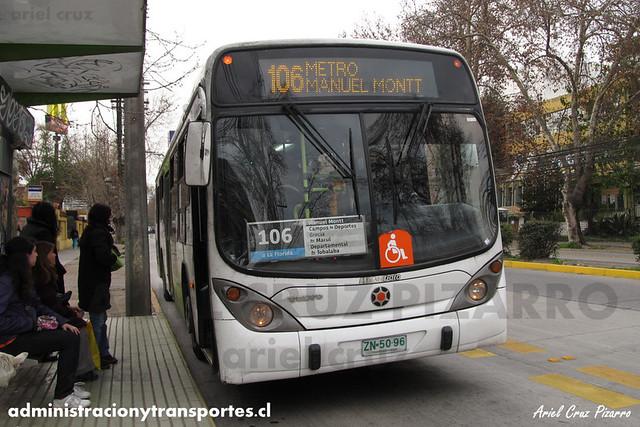 Transantiago (106) - Alsacia - Marcopolo Gran Viale / Volvo (ZN5096)
