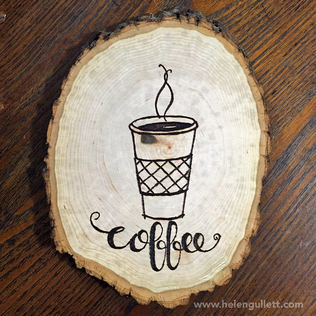 Wood-Burning with Stencil, Stamp and Hand-lettering | Living My Given Life http://helengullett.com/?p=8947 #diy #woodburning #woodslice #homedecor #handmade #handmadehomedecor #craft #heroarts