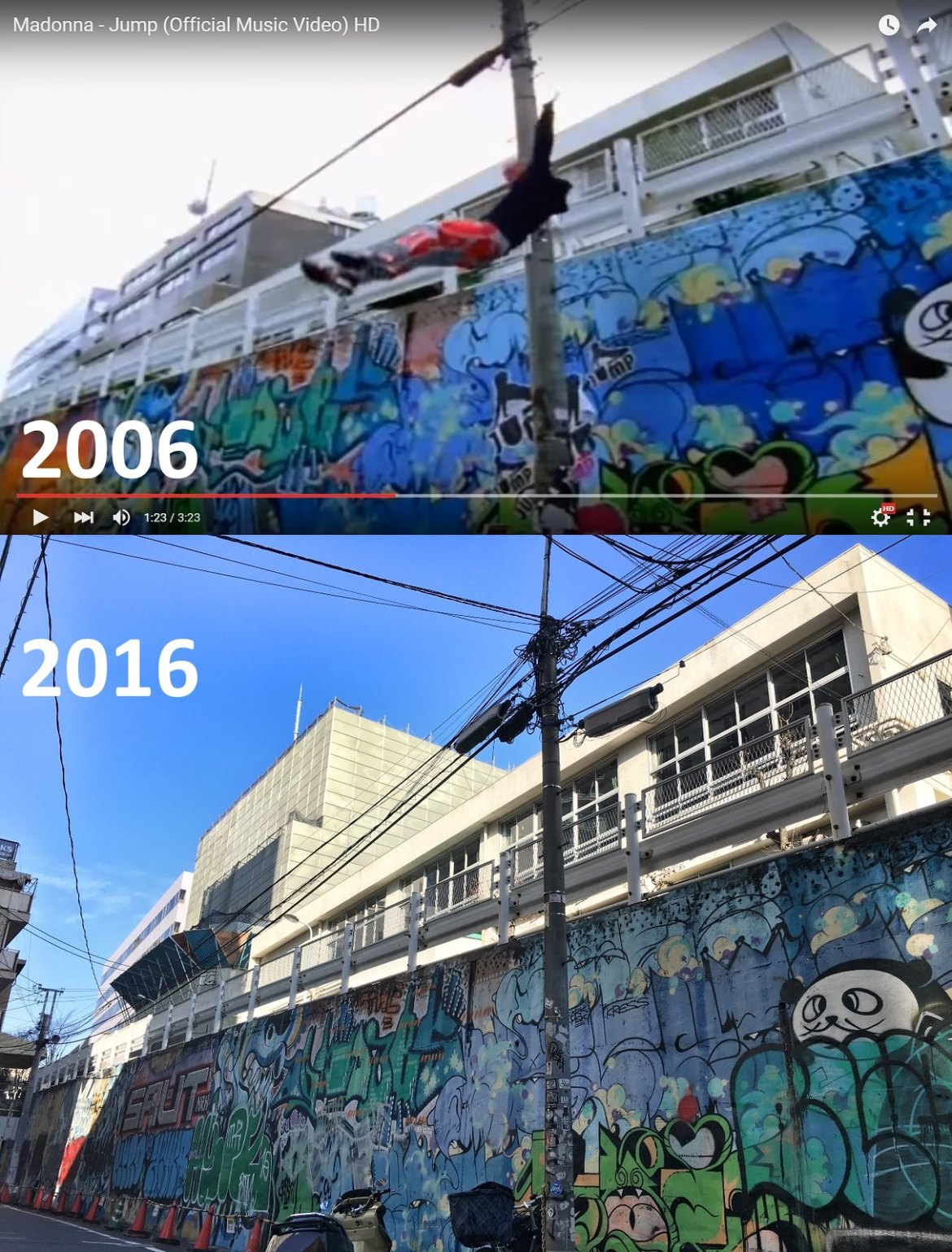 10 Years since Madonna's JUMP: 15 parkour locations of Shibuya