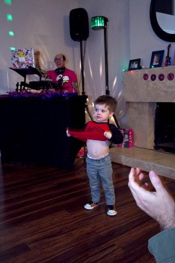 James' interesting dance moves