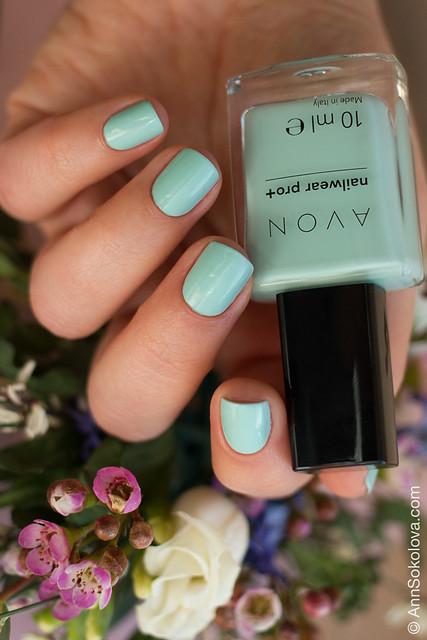 10 Avon Nailwear pro+ Aqua Verve Морская волна swatches Ann Sokolova