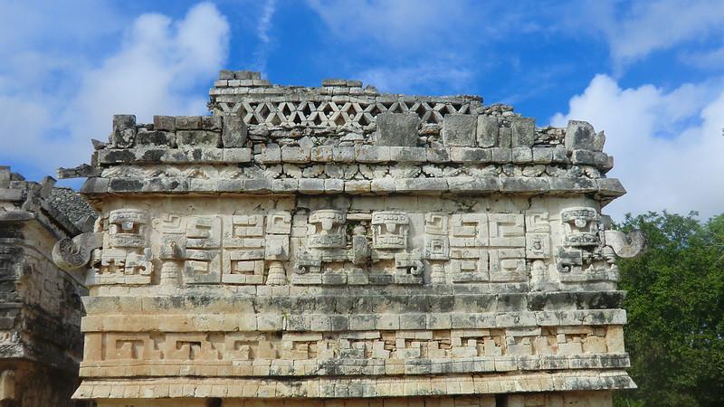 Mexico - Chichén Itzá; front of Las Monjas Temple