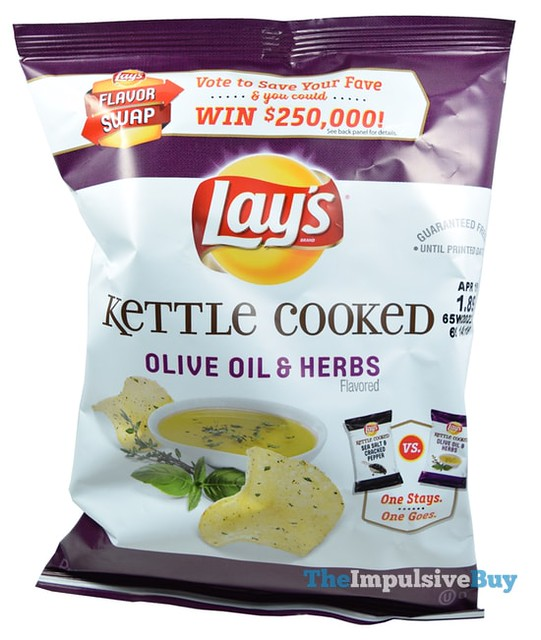 Lay's Kettle Cooked Olive Oil & Herbs Potato Chips (Flavor Swap)