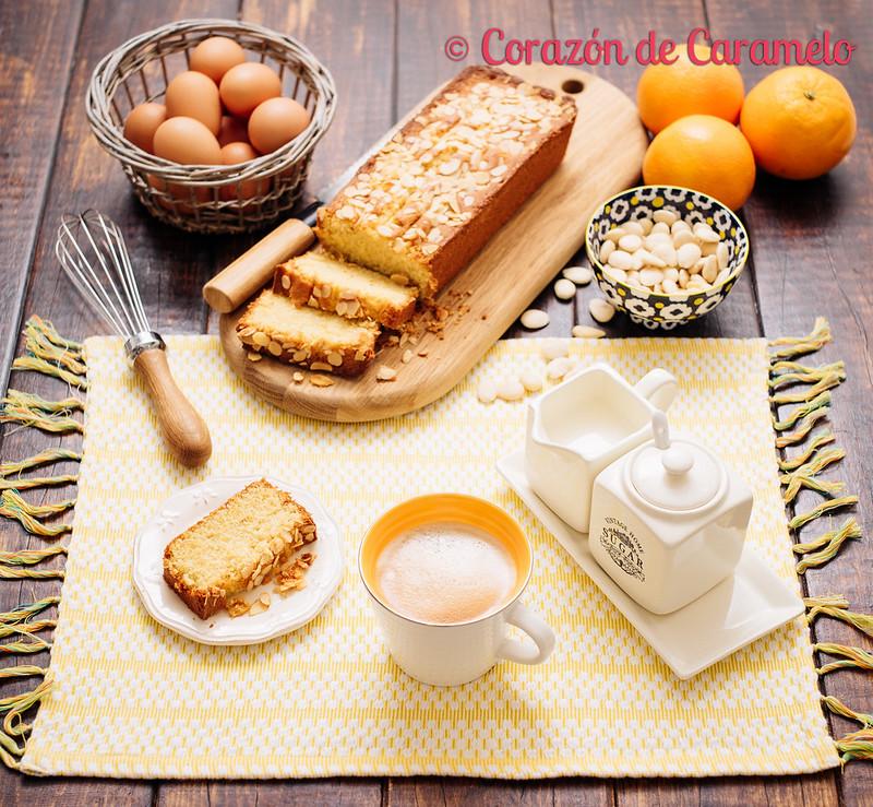 Bizcocho de Naranja y Almendras