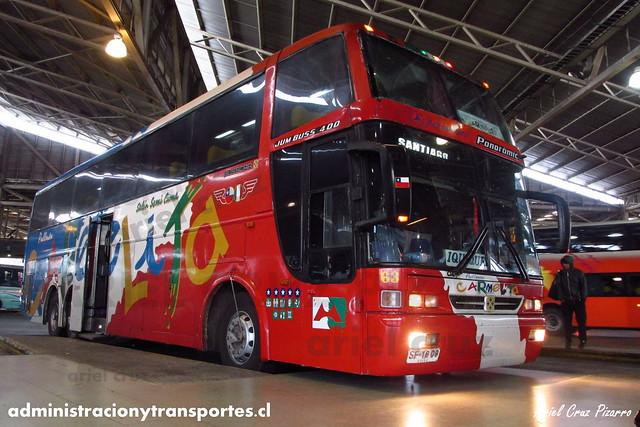 Pullman Carmelita - Terminal San Borja (Santiago) - Busscar Jum Buss 400T / Mercedes Benz (SF1809) (63)