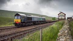 Train passing Blea Moor