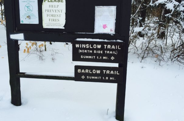 Winslow Trail Sign