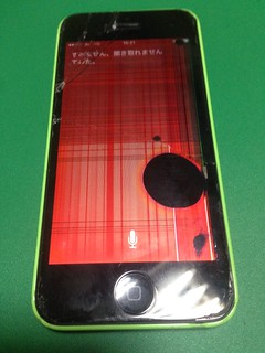 57_iPhone5Cのフロントパネル液晶破損