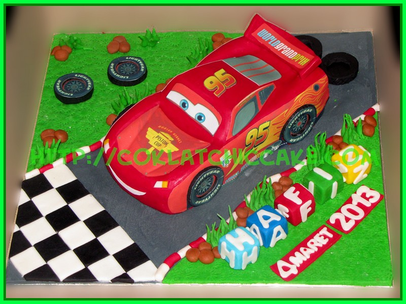 cake lightning mcqueen cars - hafiz - coklatchic cake est.2004