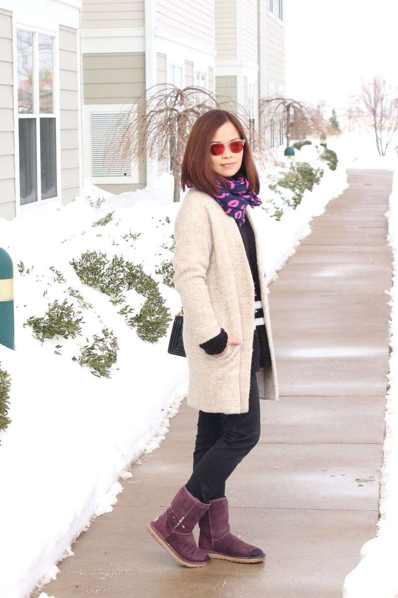 Purple-lips-scarf-ugg-boots-outfit-shein-coat-5