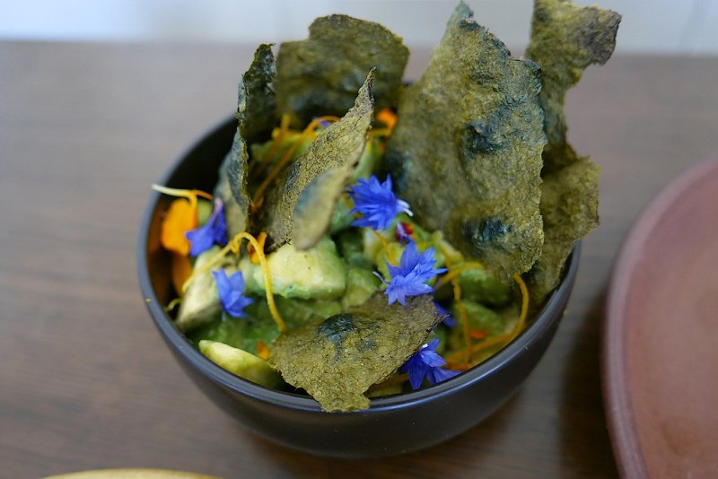Orange blossom, avocado, white miso, nori