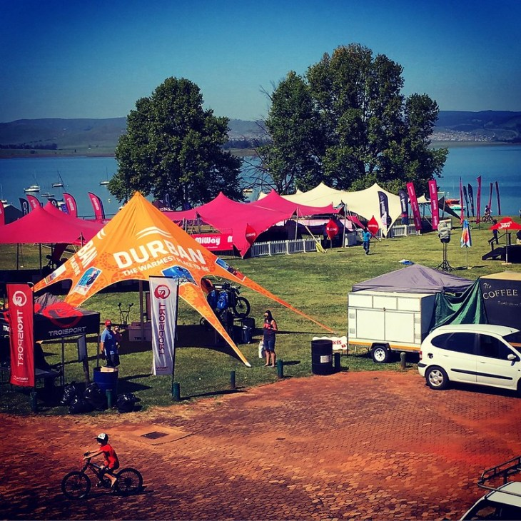 Preparations by the Midmar Dam