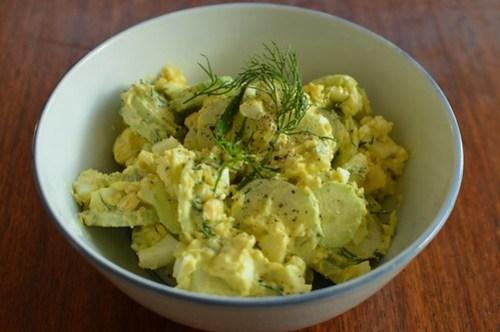 Egg & cucumber salad