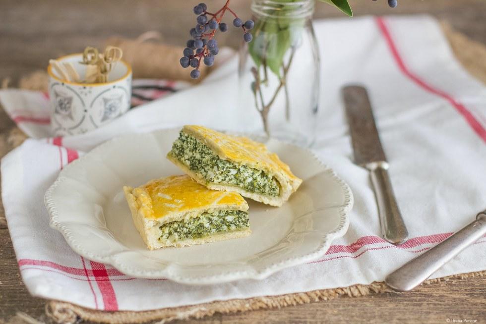 Torta rustica con ricotta e spinaci