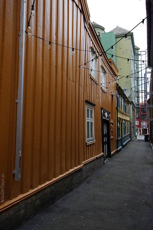 Die Gassen in Trondheim.