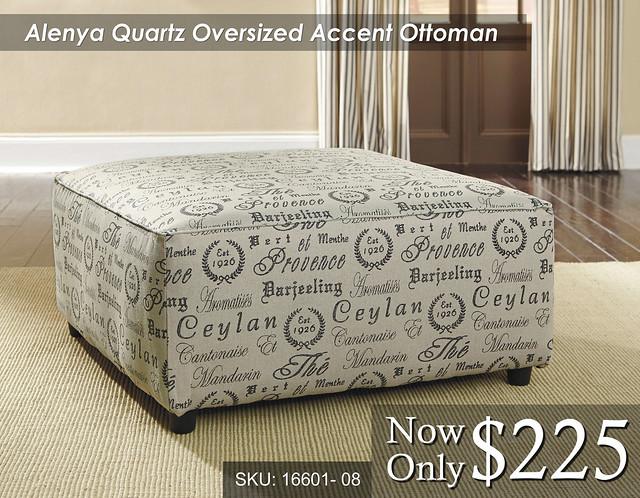 Alenya Quartz Oversized Accent Ottoman