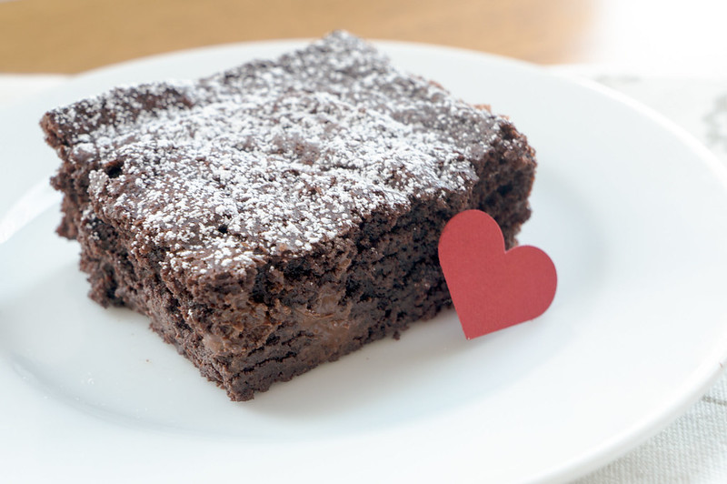 Cocoa Brownies, served