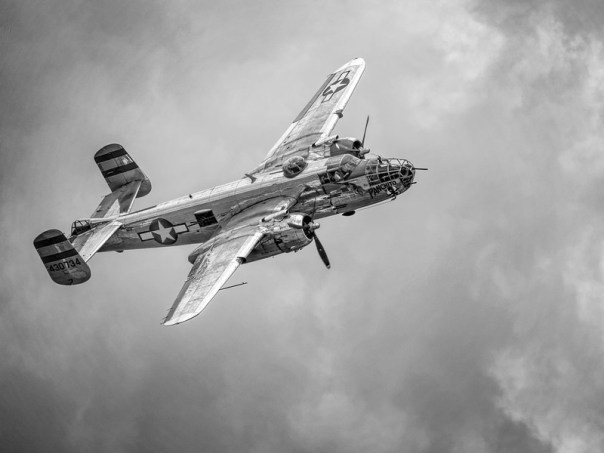 North American B-25 Mitchell bomber flight demo