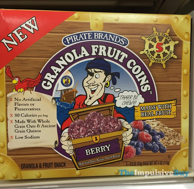 Pirate Brands Berry Granola Fruit Coins