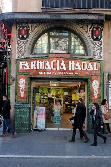 Farmacia Nadal de las Ramblas de Barcelona