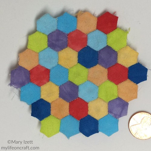 Pre-quilted hexies