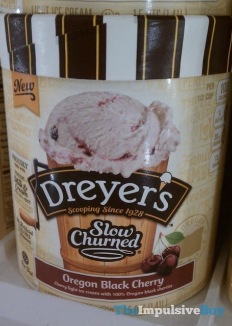 Dreyer's Slow Churned Oregon Black Cherry Ice Cream