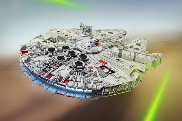 Fan Spends A Year Building 7500 Piece Millennium Falcon From The