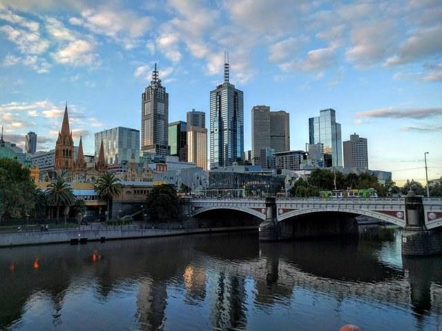 Cityscape of Melbourne City