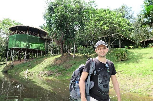 zaid outside amazon tupana lodge
